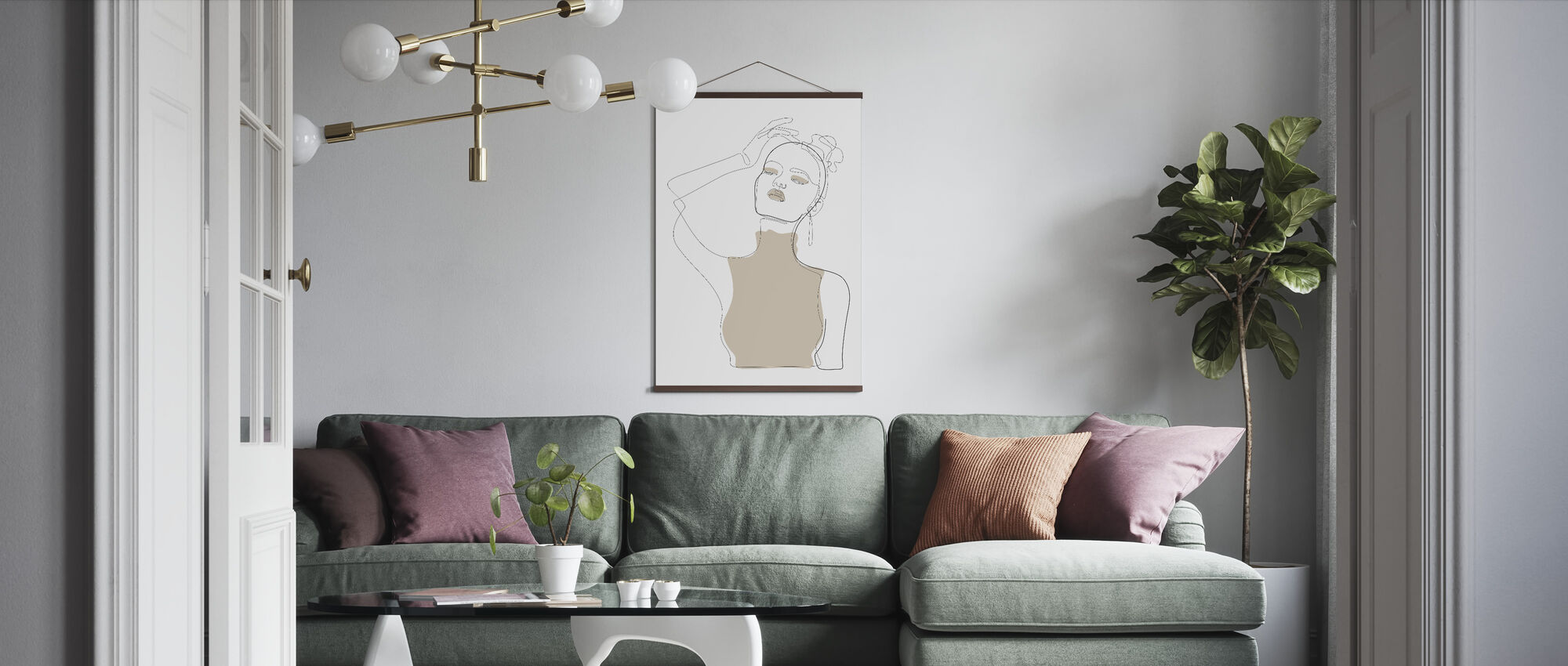 Beige Touch - Poster - Living Room