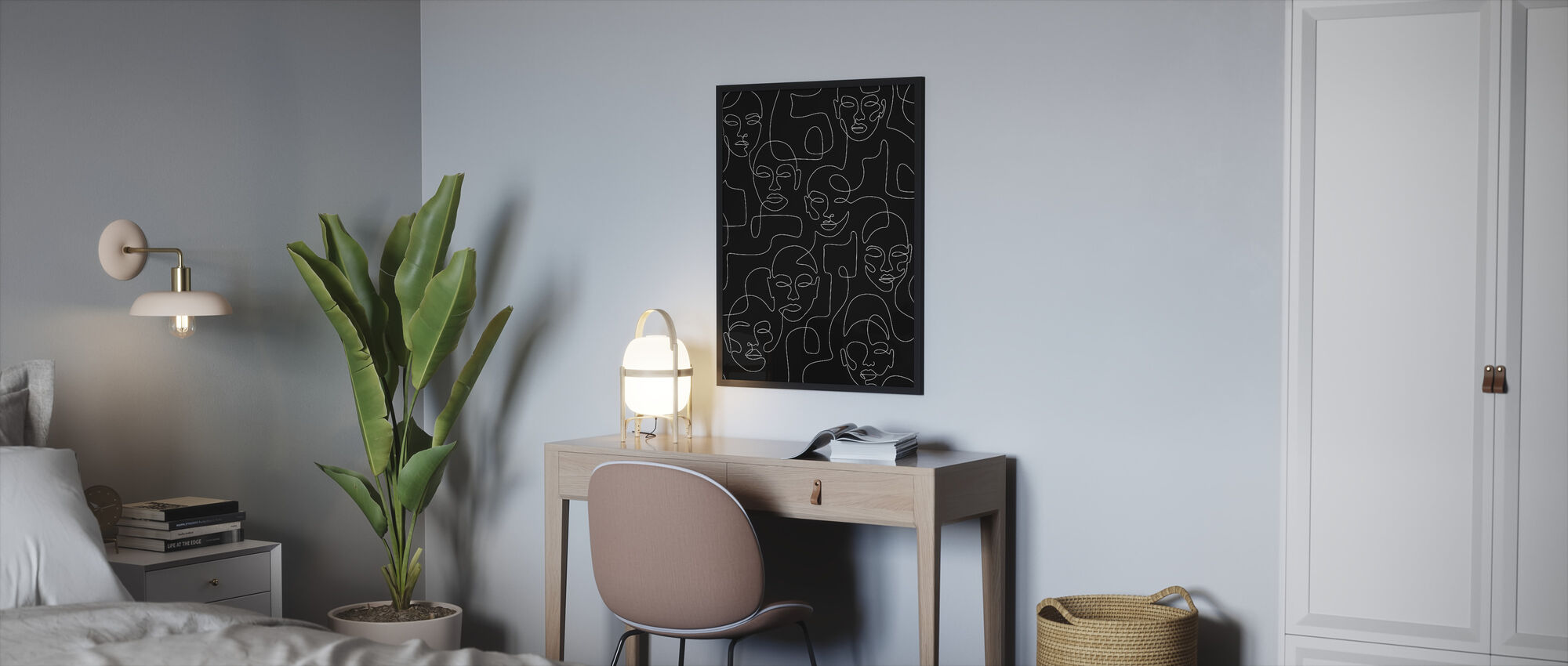 Overvolle nacht - Ingelijste print - Slaapkamer