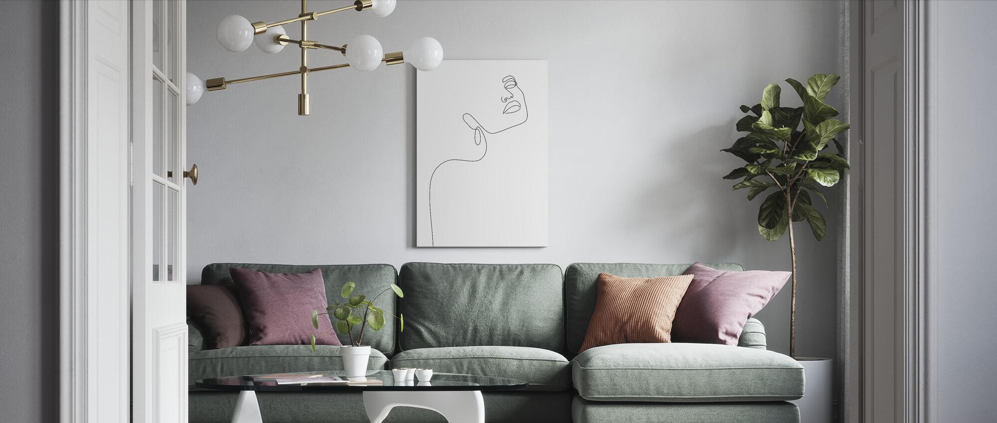 Dreamy girl - Canvas print - Living Room