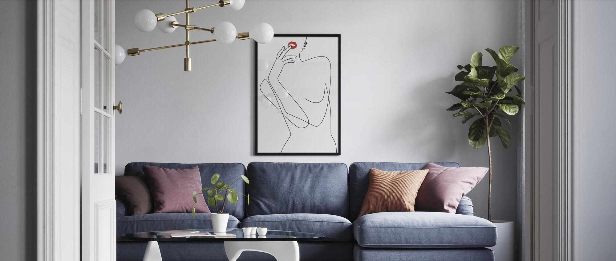 Naisellinen Minimalismi - Kehystetty kuva - Olohuone