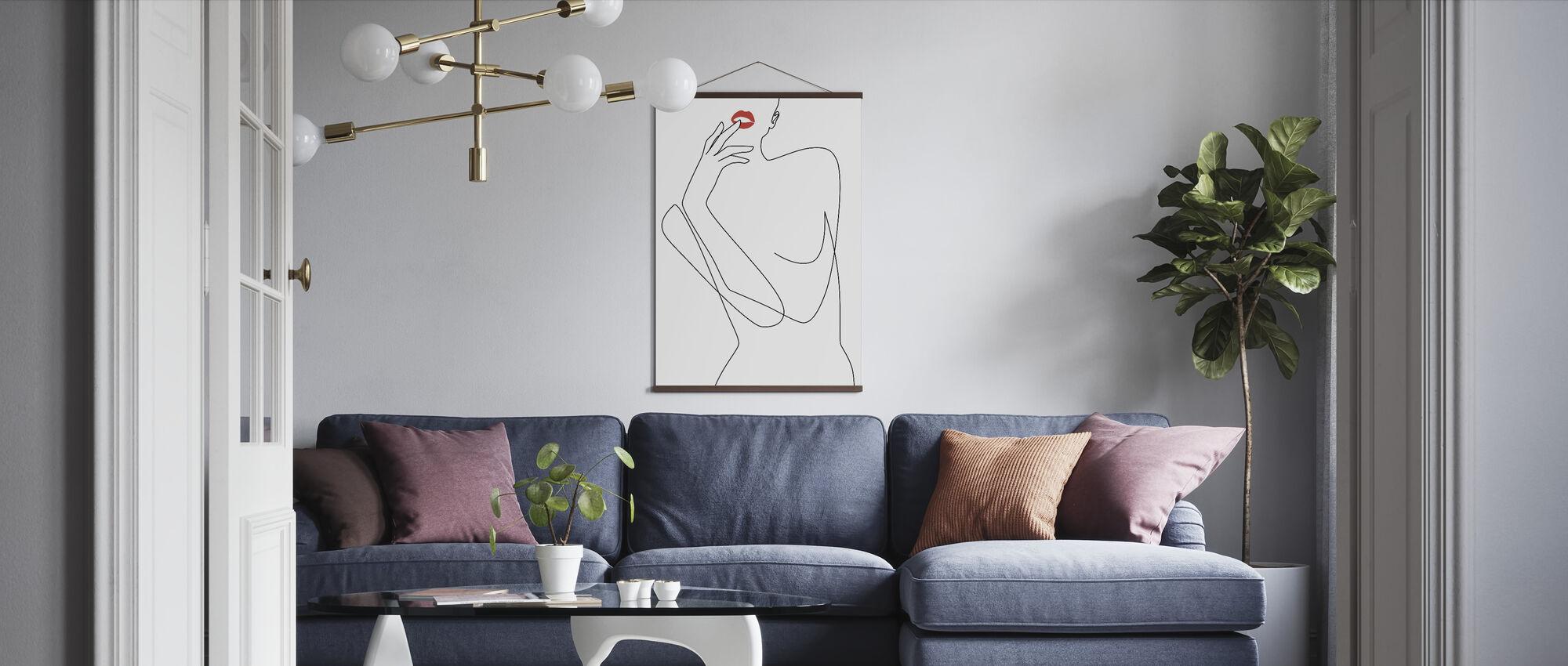 Feminin Minimalisme - Plakat - Stue
