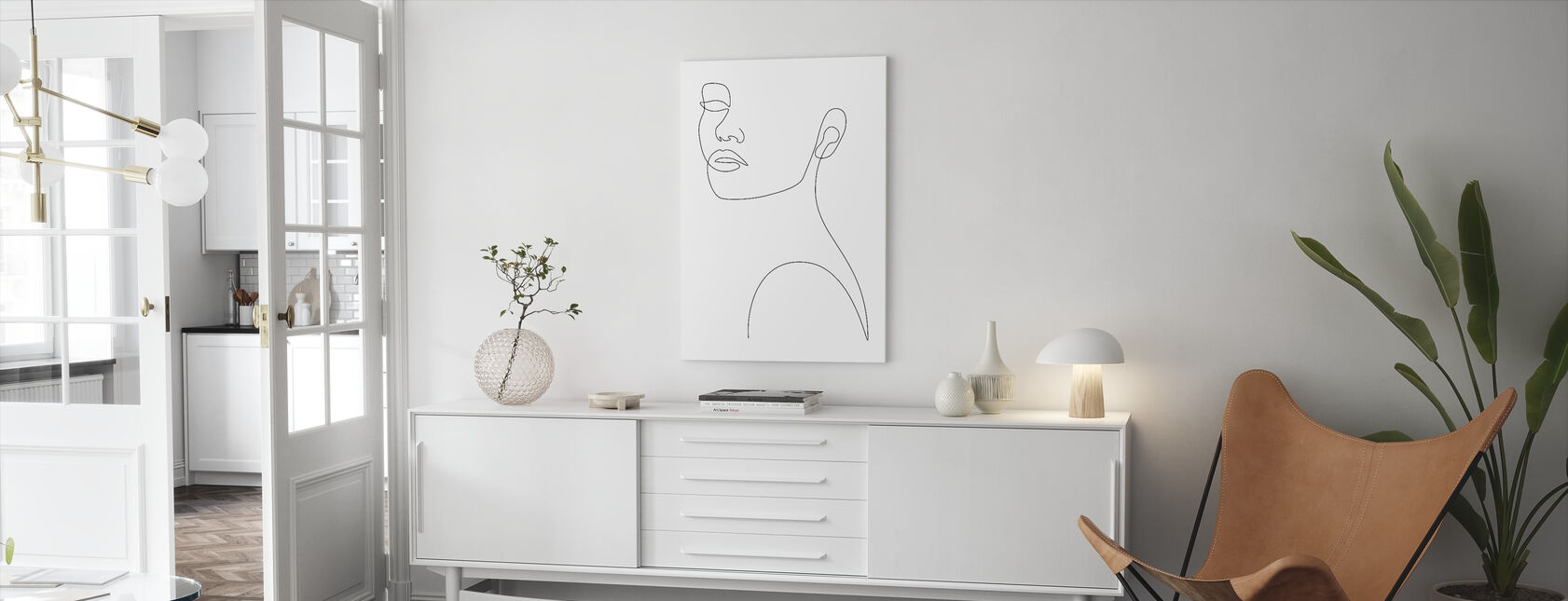 Portret dziewczęcy - Obraz na płótnie - Pokój dzienny