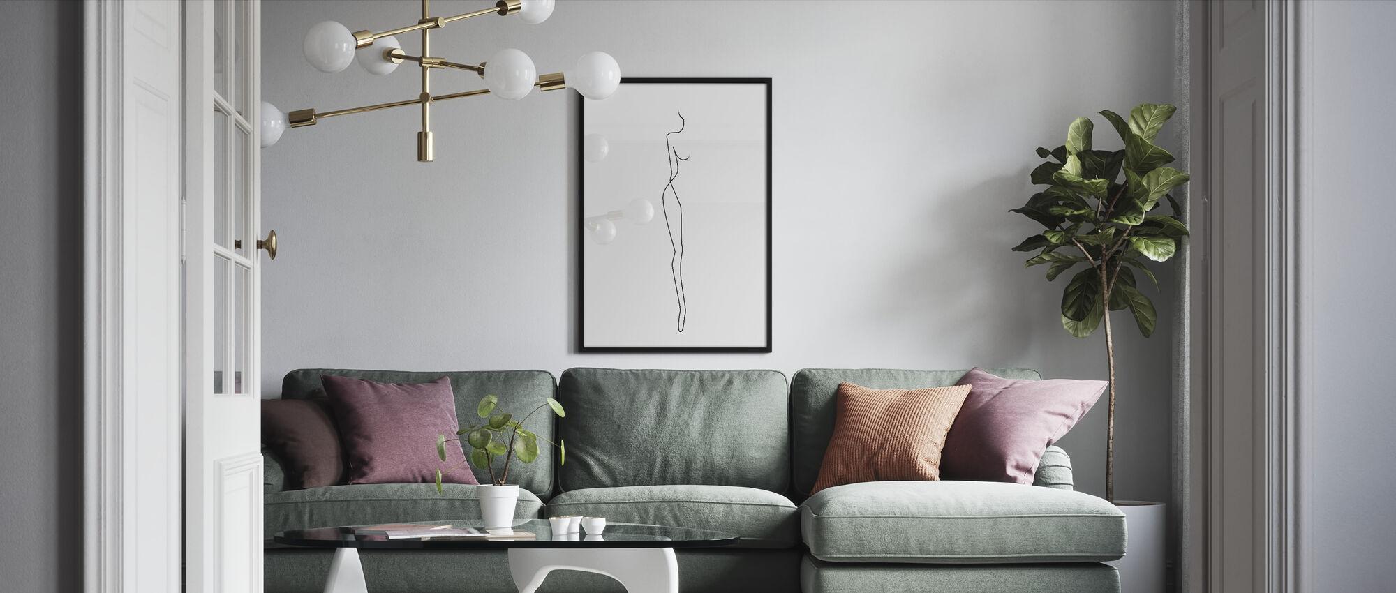 Her - Framed print - Living Room