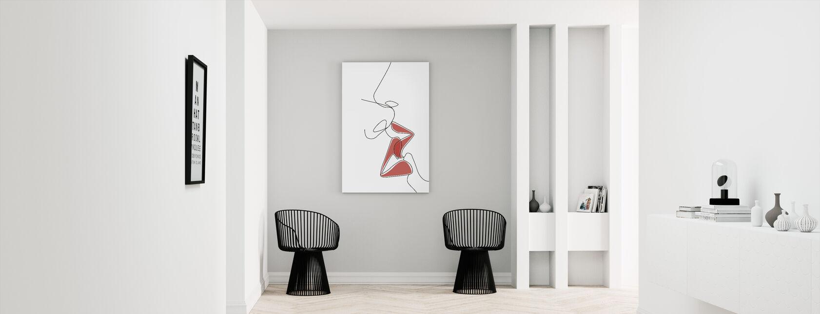 One-Line Kiss - Canvas print - Hallway
