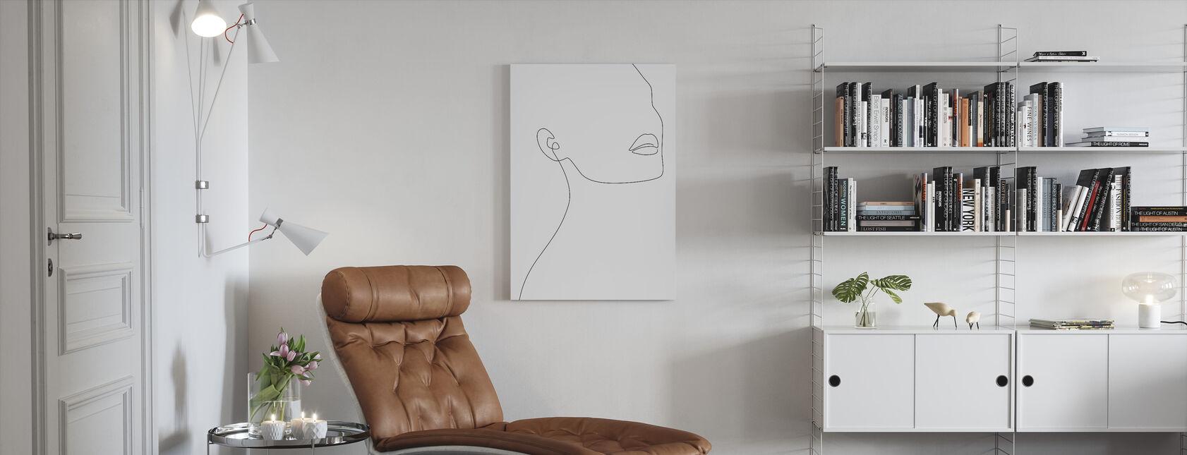 Simple Minimalist - Canvas print - Living Room