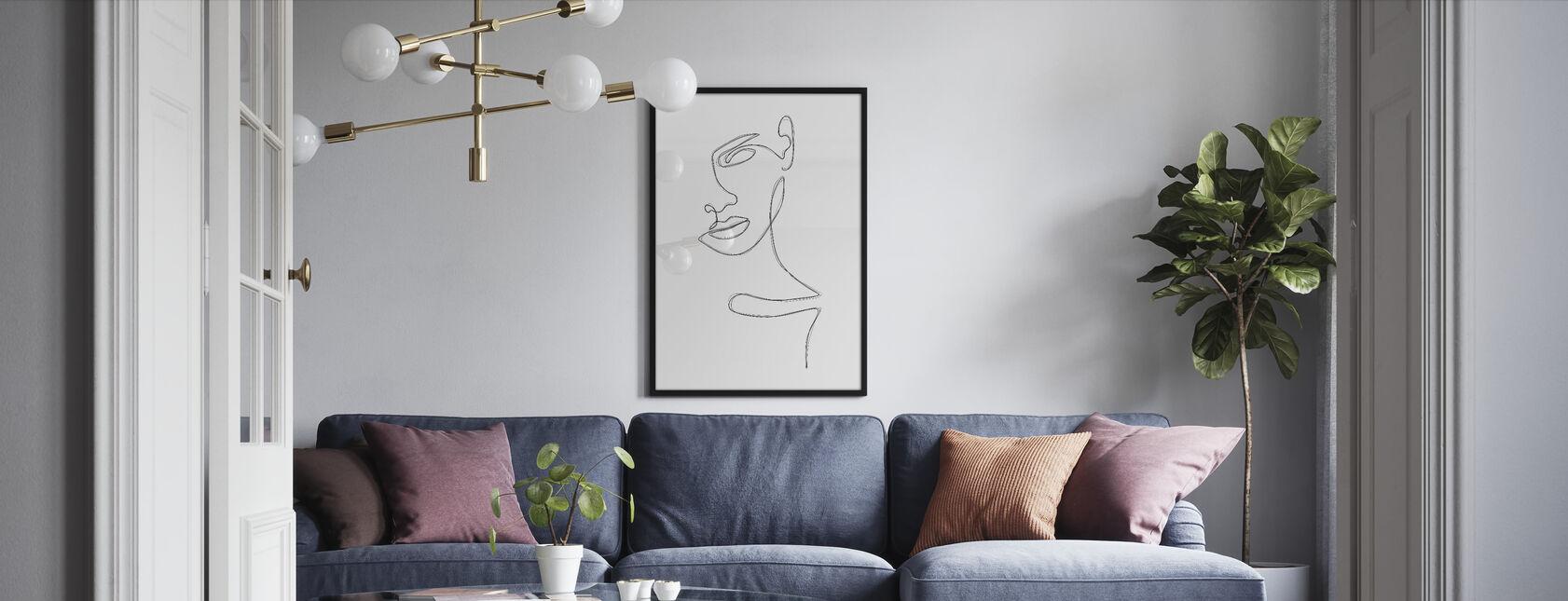 Sketched Portrait - Framed print - Living Room