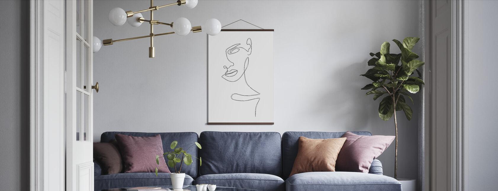 Schetst portret - Poster - Woonkamer