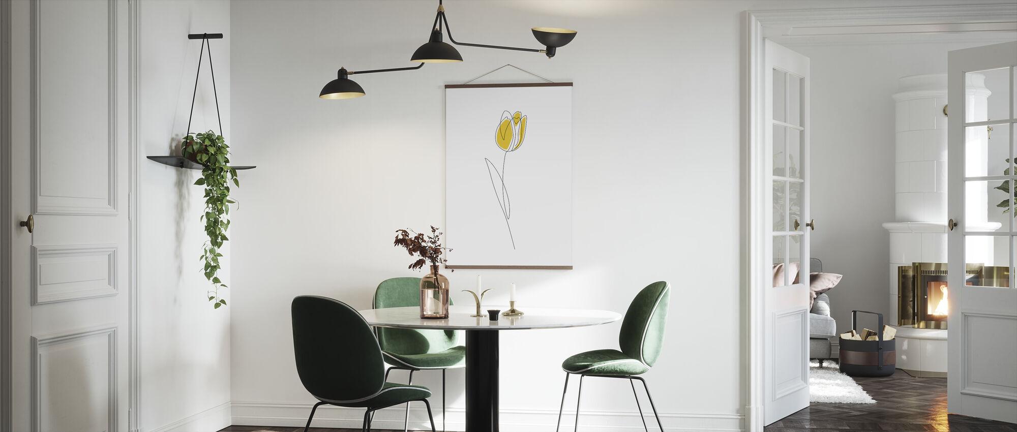 Kevät tulppaanit - Juliste - Keittiö