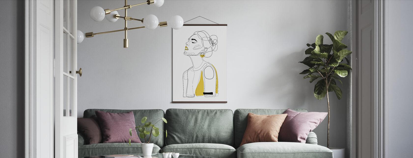 Gele Lip - Poster - Woonkamer