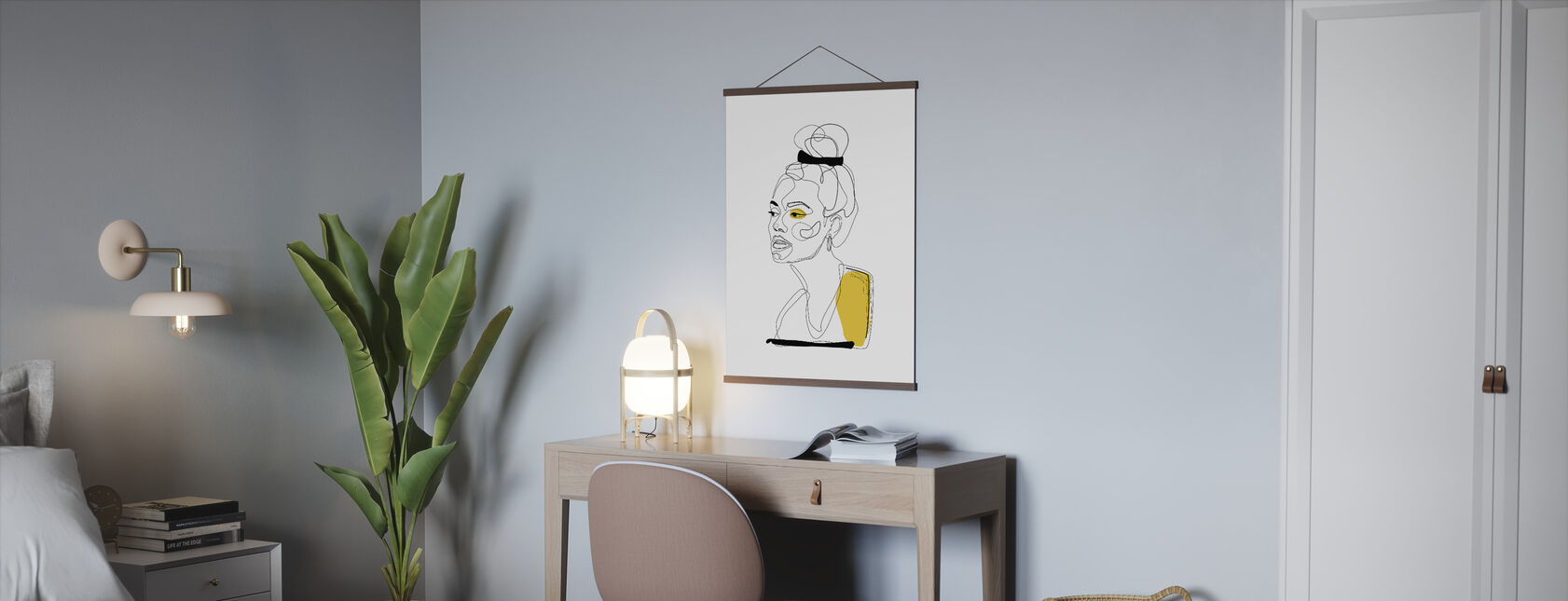 Yellow Sketch - Poster - Office