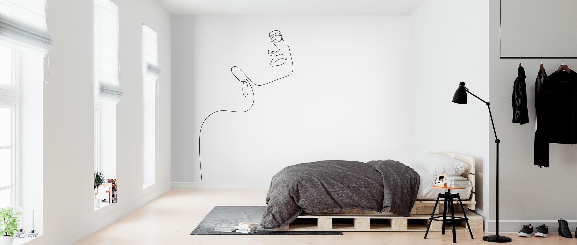 Dromerig meisje - Behang - Slaapkamer