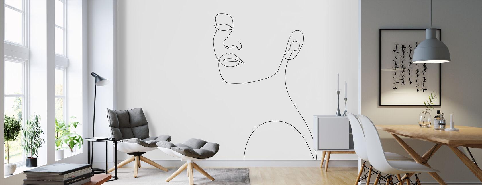 Girly Portrait - Wallpaper - Living Room