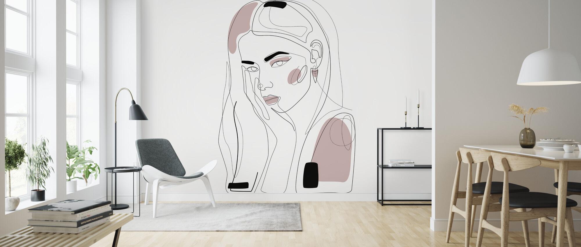 In Blush - Wallpaper - Living Room