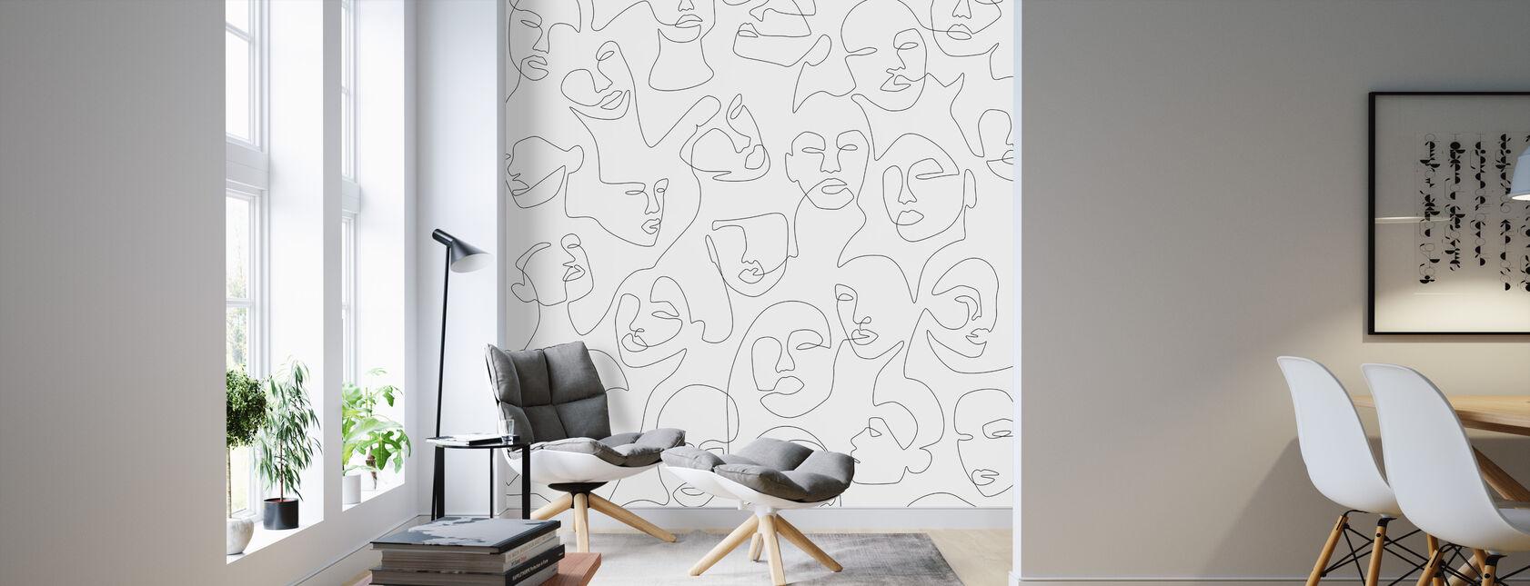 Shes Beautiful II - Wallpaper - Living Room