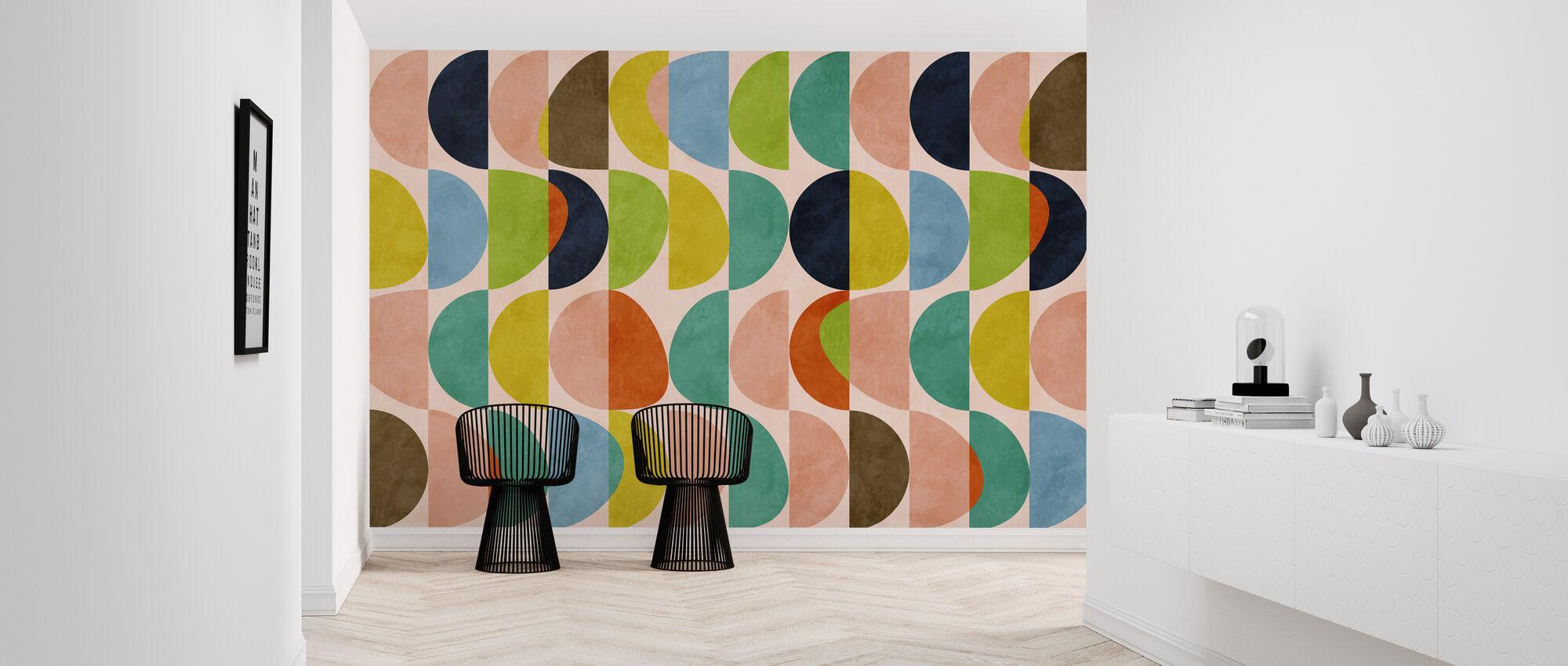 Circles Mid Century - Wallpaper - Hallway