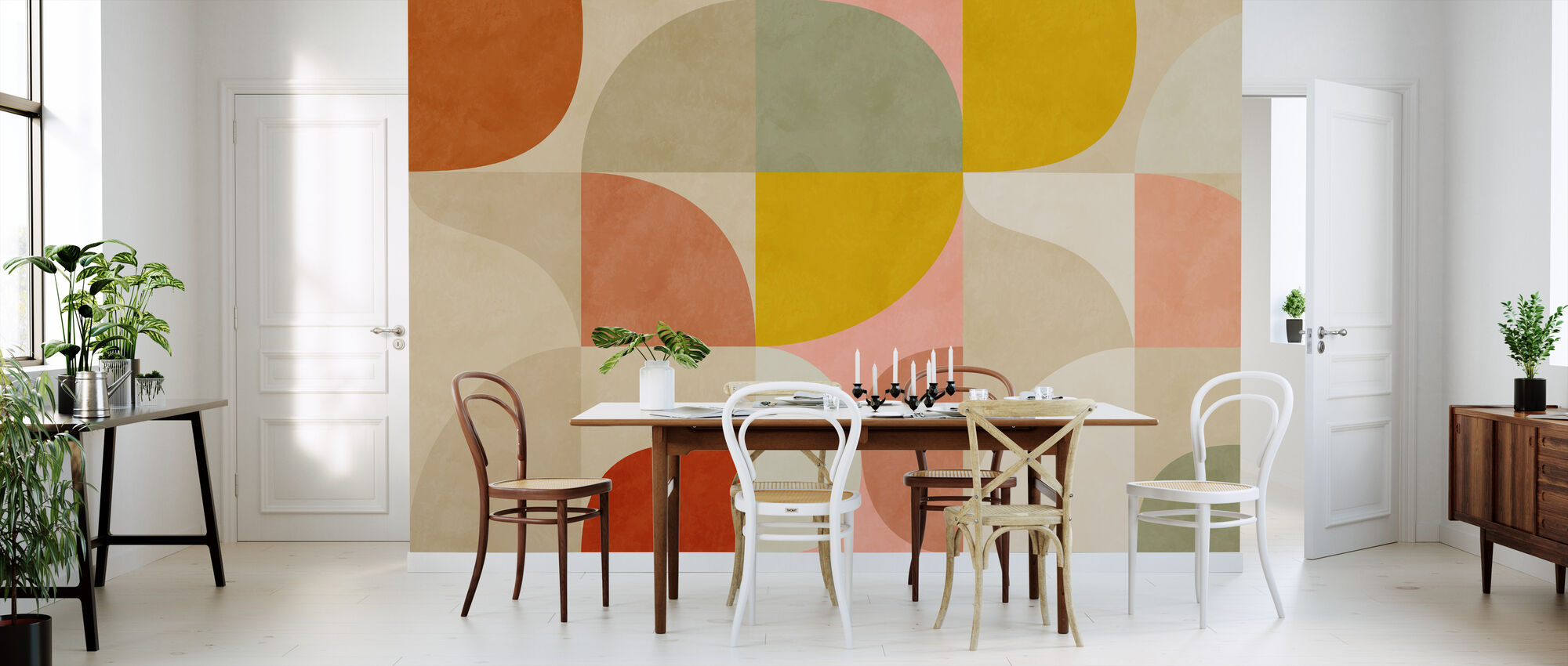 Circles Mid Century II - Wallpaper - Kitchen