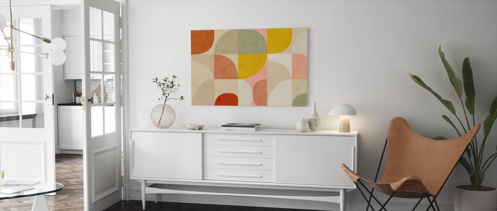 Circles Mid Century II - Canvas print - Living Room
