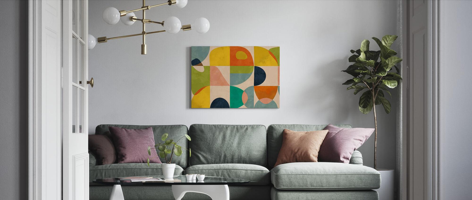 Circles Mid Century IIII - Canvas print - Living Room