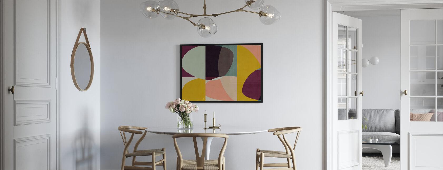 Circles Mid Century VI - Framed print - Kitchen