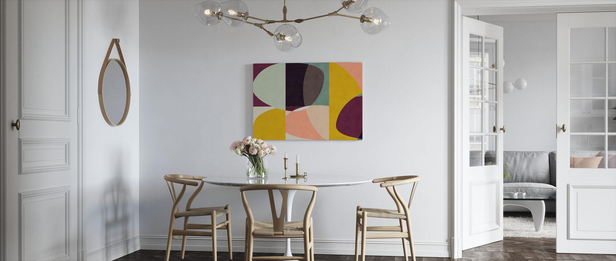 Circles Mid Century VI - Canvas print - Kitchen