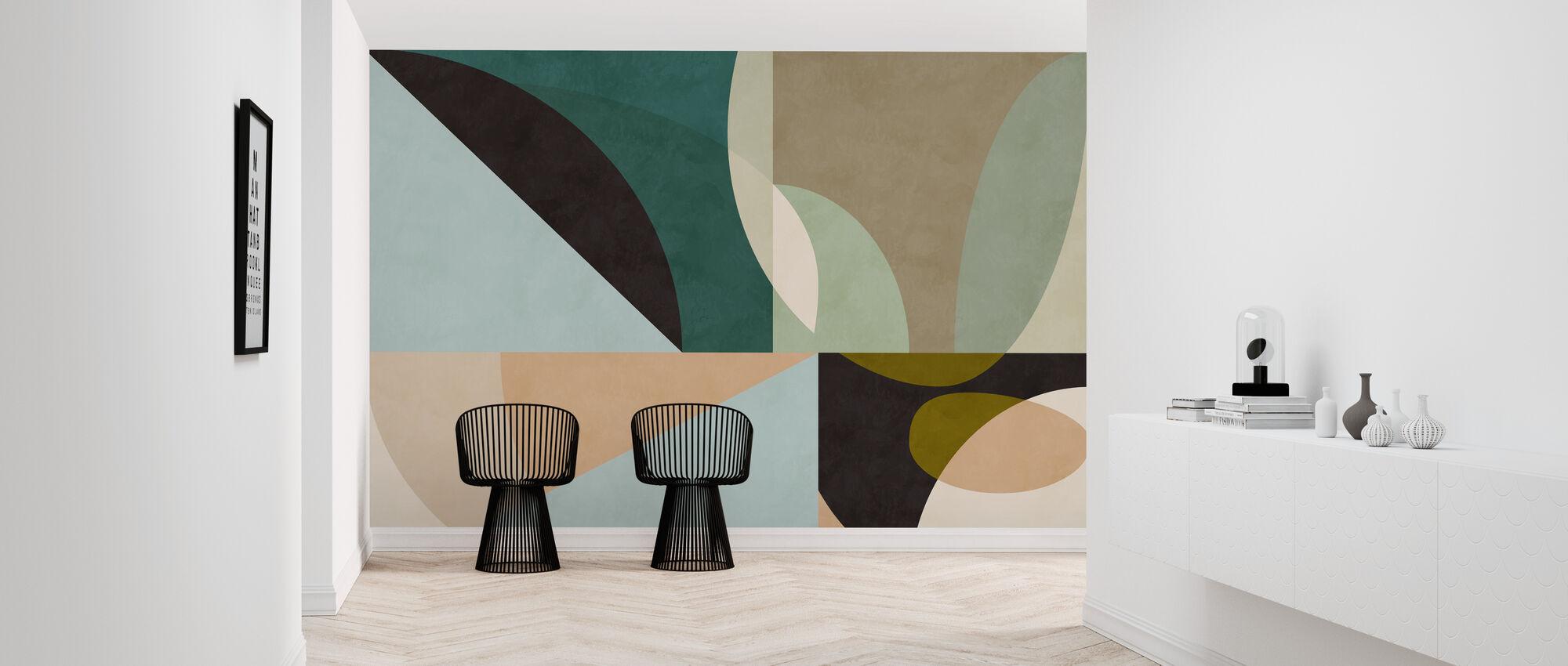 Circles Mid Century VII - Wallpaper - Hallway