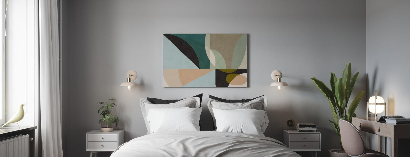 Circles Mid Century VII - Canvas print - Bedroom