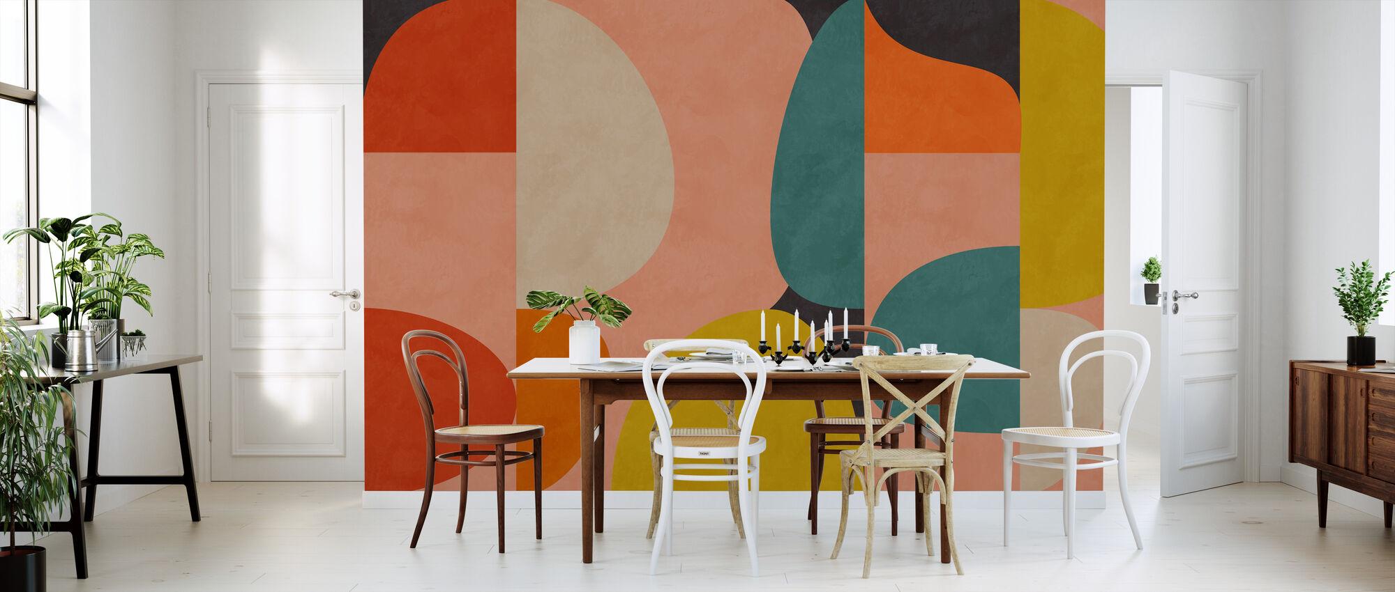 Circles Mid Century VIII - Wallpaper - Kitchen