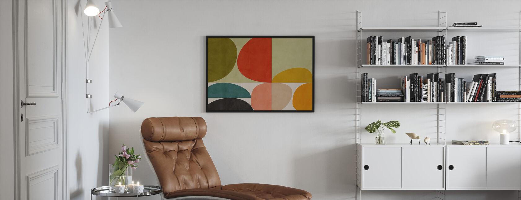 Circles Mid Century VIIII - Framed print - Living Room