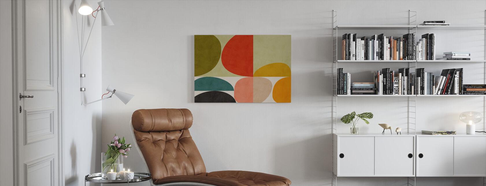 Circles Mid Century VIIII - Canvas print - Living Room