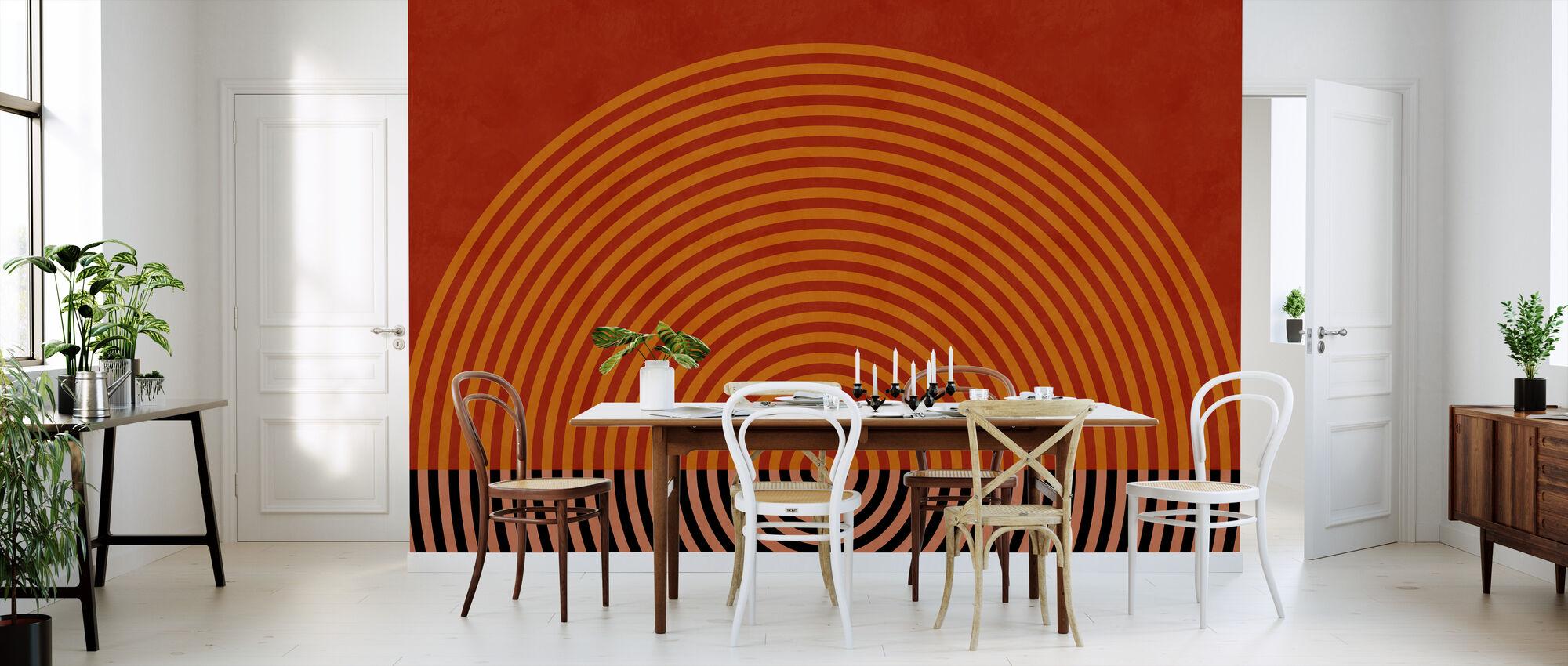 Circles Mid Century XI - Wallpaper - Kitchen