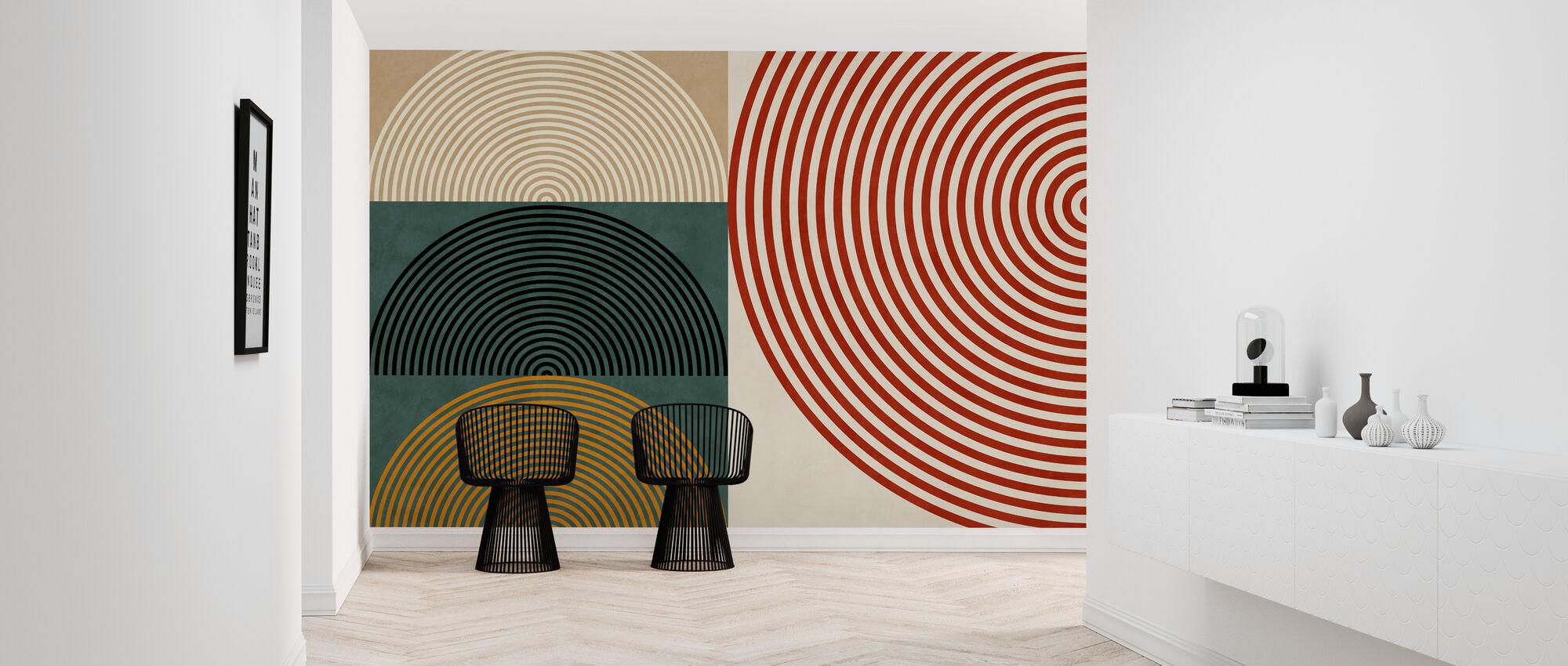 Circles Mid Century XII - Wallpaper - Hallway
