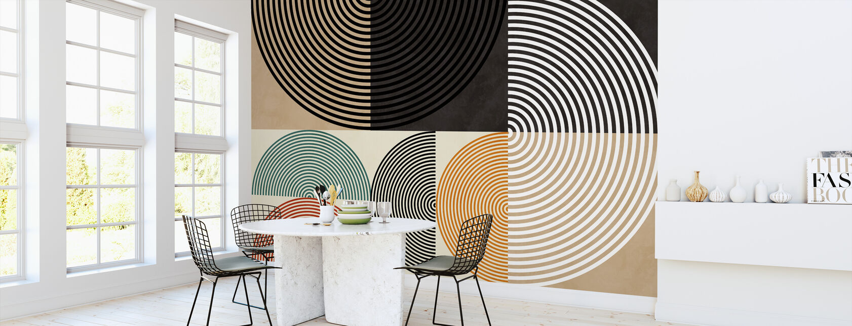 Circles Mid Century XIII - Wallpaper - Kitchen