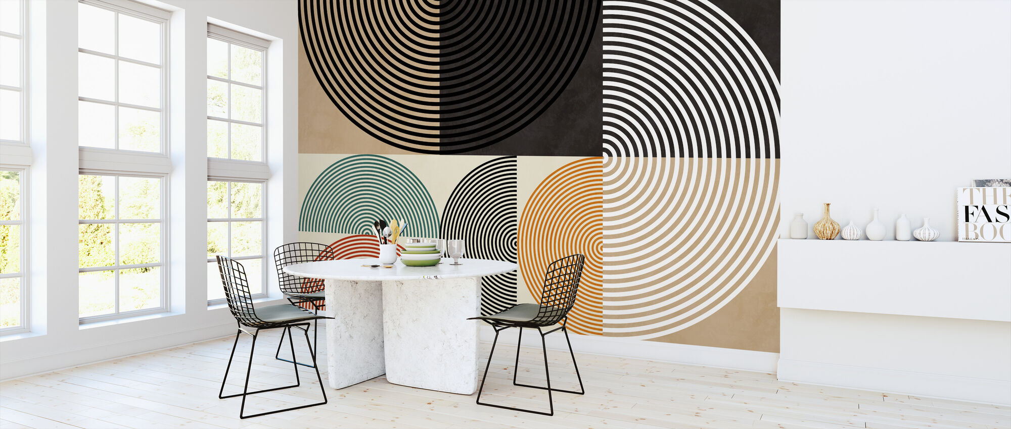Circles Mid Century XIII - Wallpaper - Kitchen