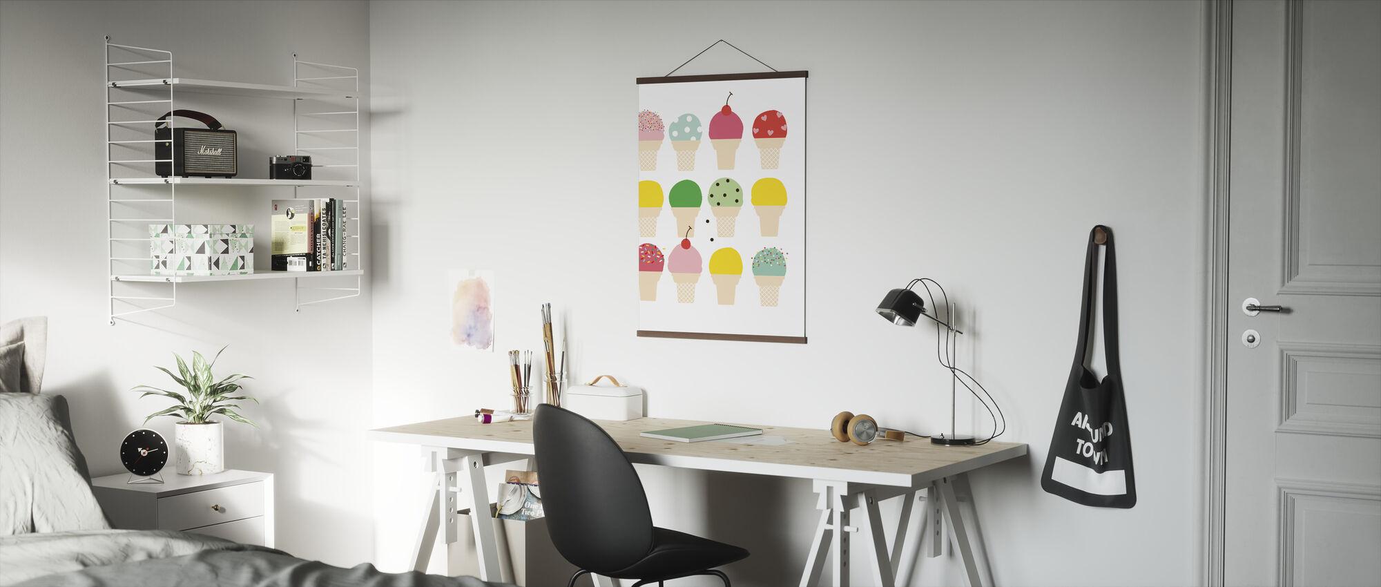 Ice Cream Fun - Poster - Office