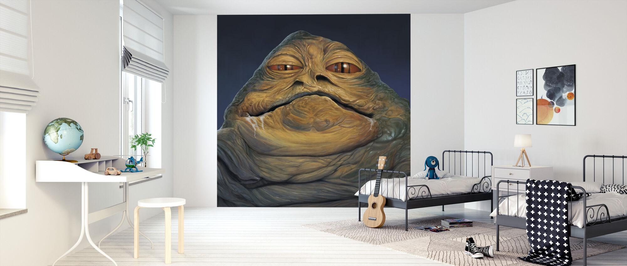 Jabba Der Hutt Portræt - Tapet - Børneværelse