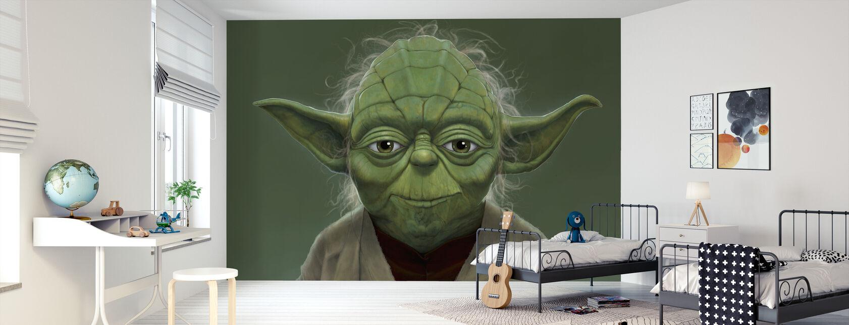 Yoda Portræt - Tapet - Børneværelse