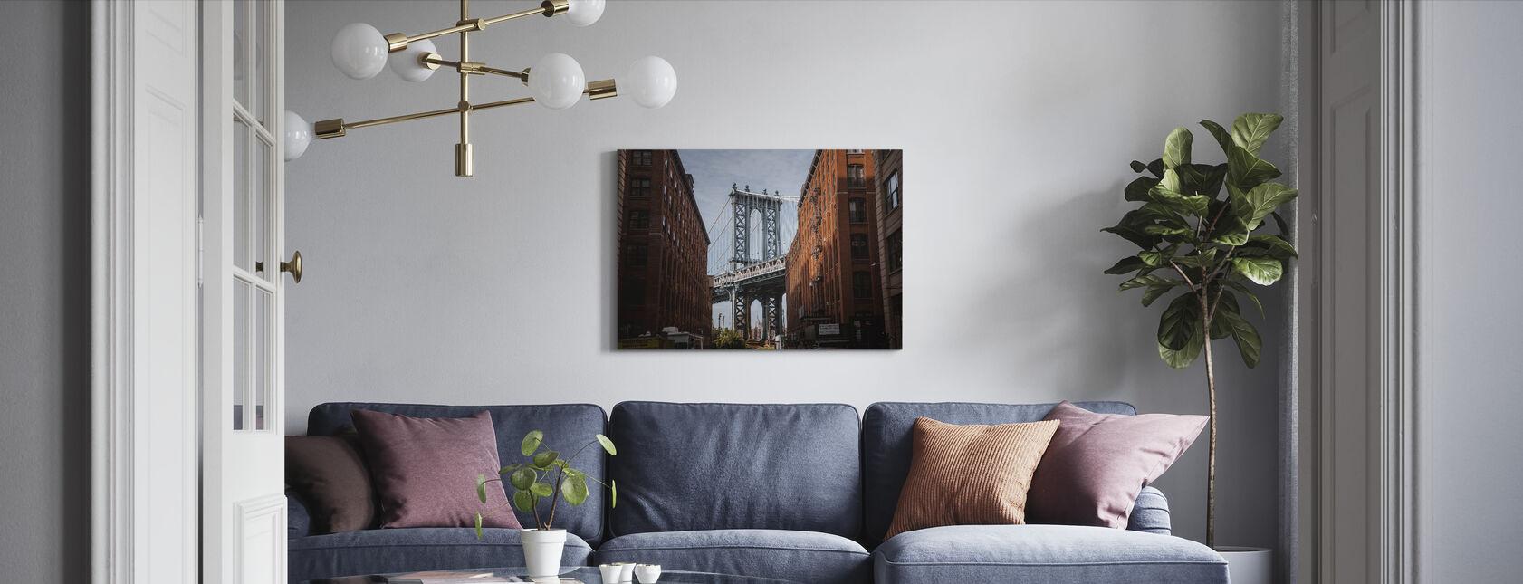 Brooklyn Bridge View - Canvas print - Woonkamer