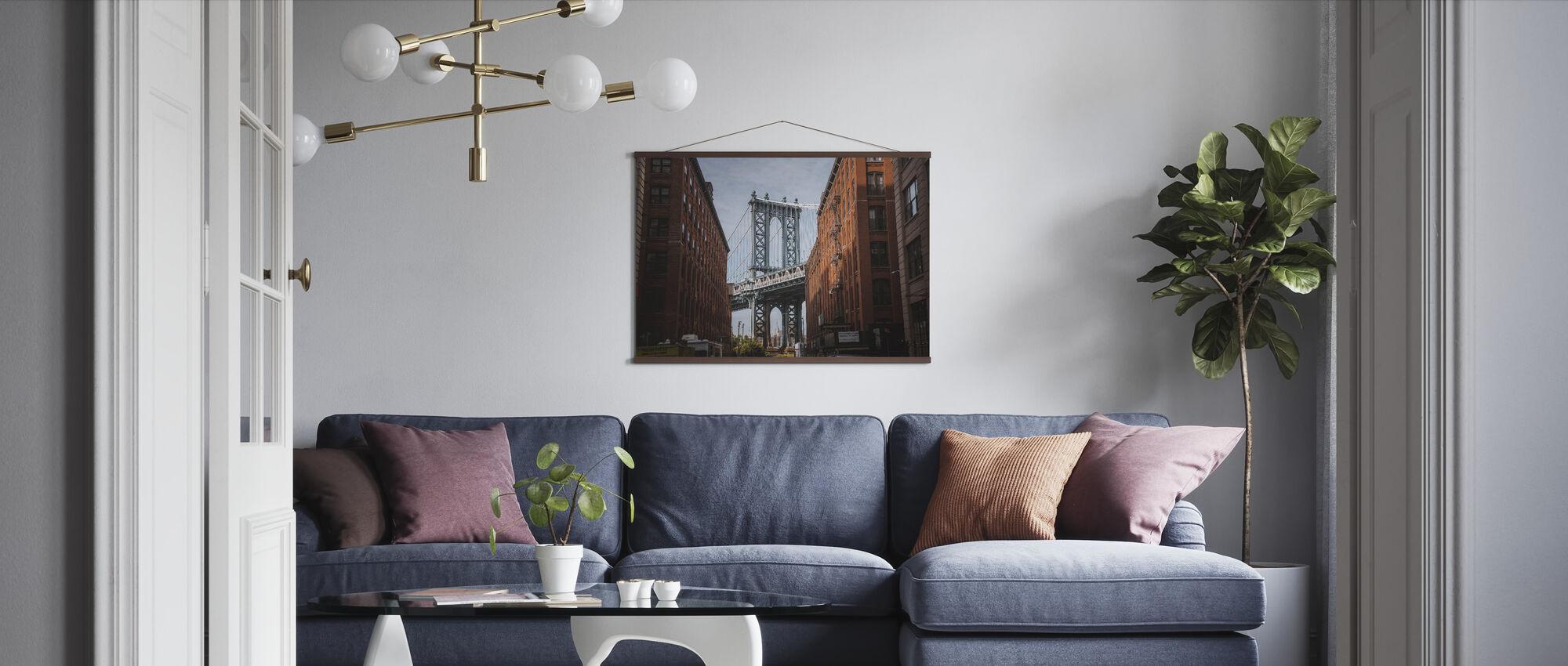 Brooklyn Bridge View - Poster - Living Room