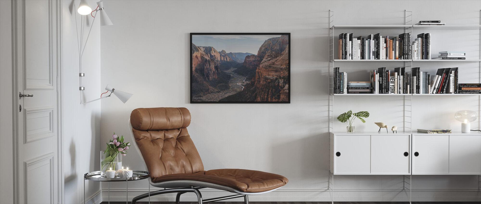 Canyon Desert Geology - Framed print - Living Room