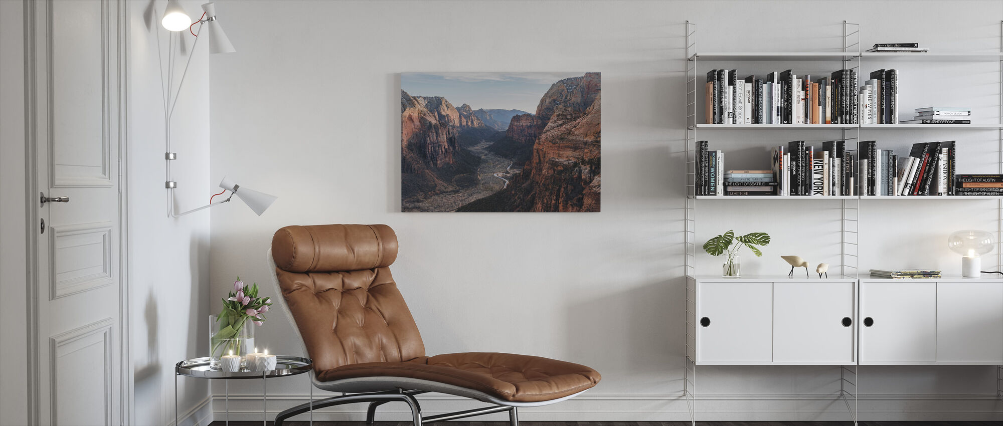 Canyon Desert Geology - Canvas print - Living Room