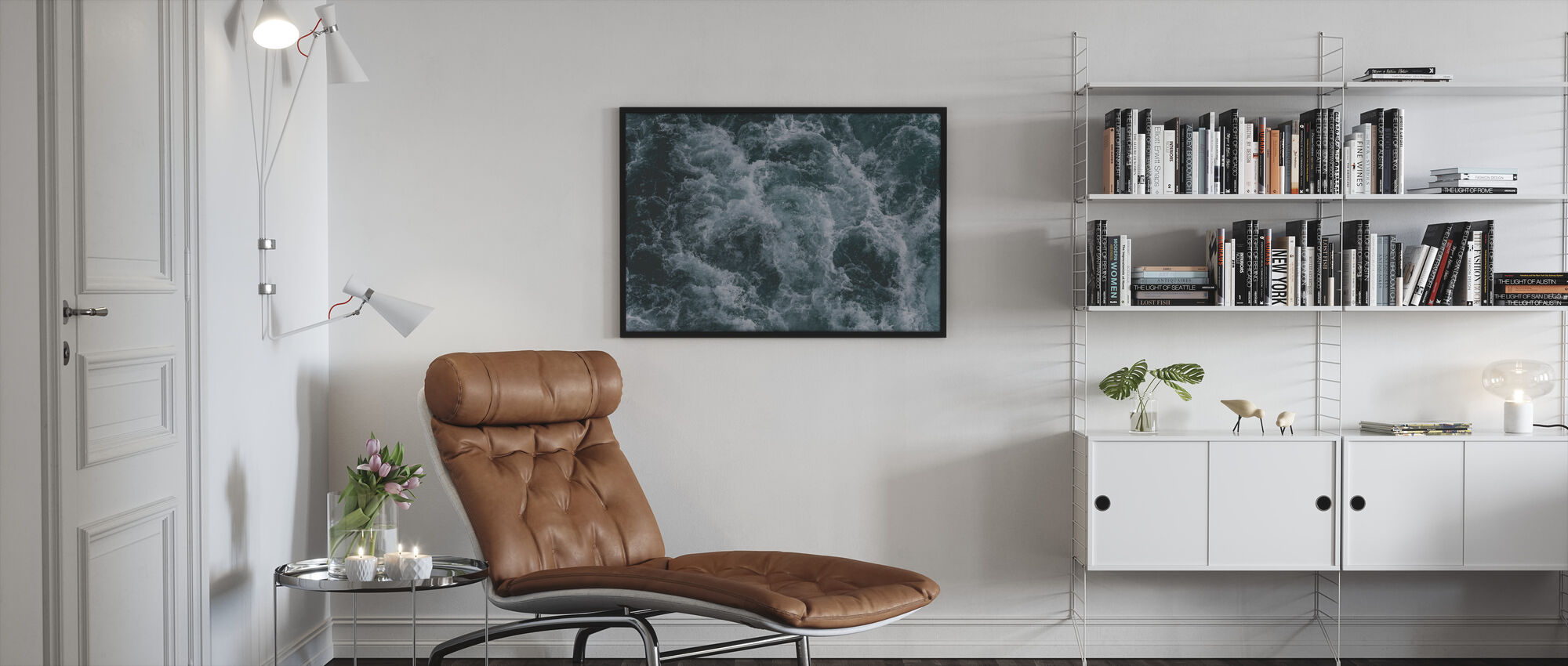 Cold and Stormy - Framed print - Living Room