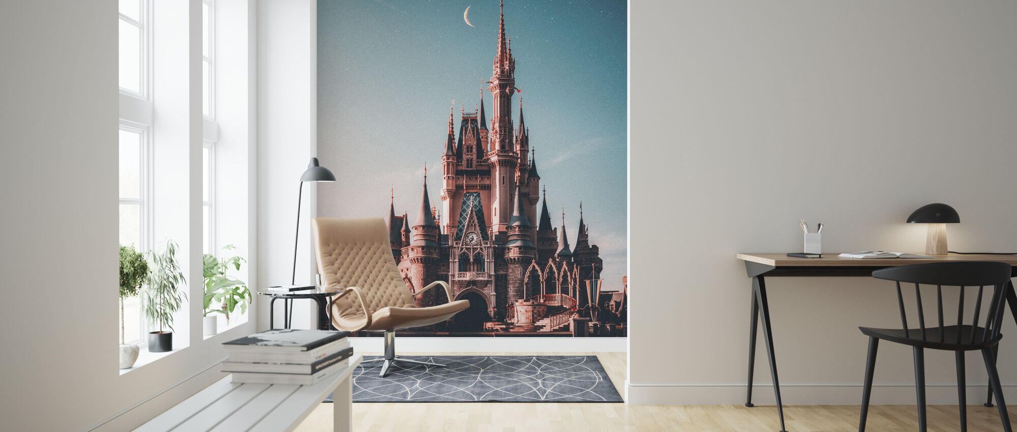 Diney Cinderella Castle - Wallpaper - Living Room