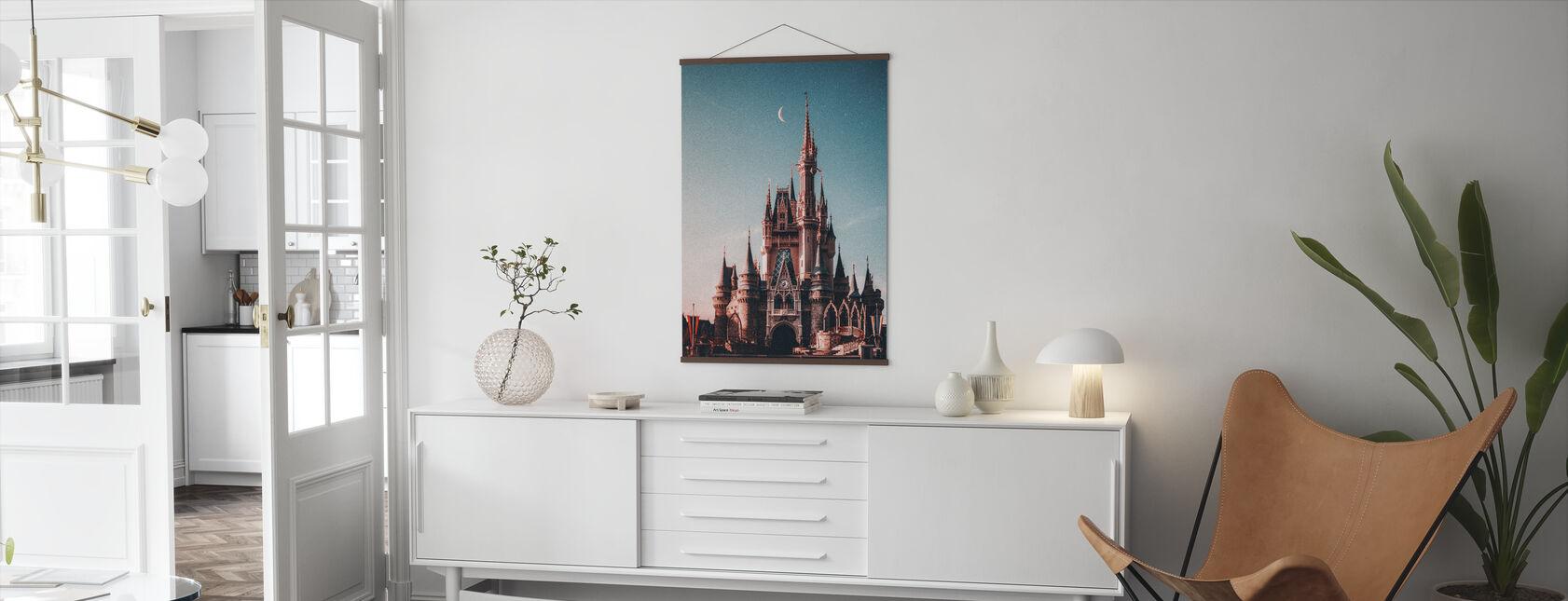 Diney Cinderella Castle - Poster - Living Room