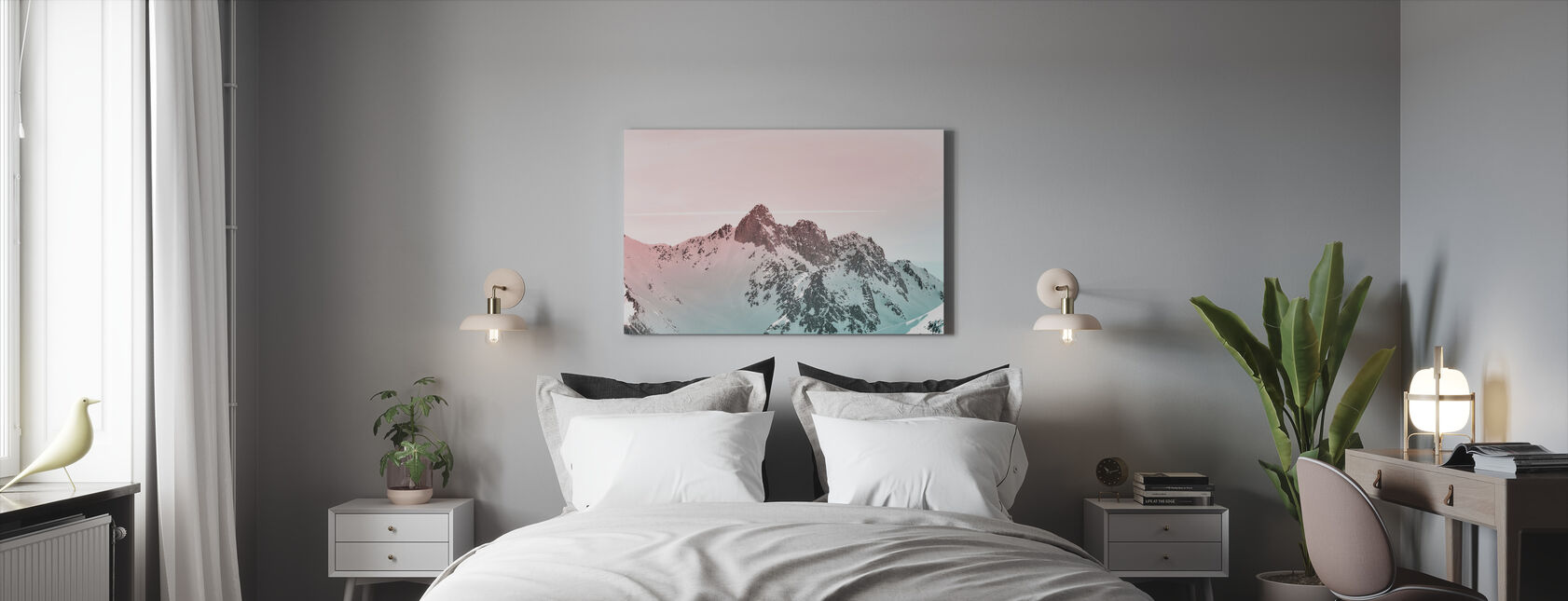 Frost on Frost - Canvas print - Bedroom