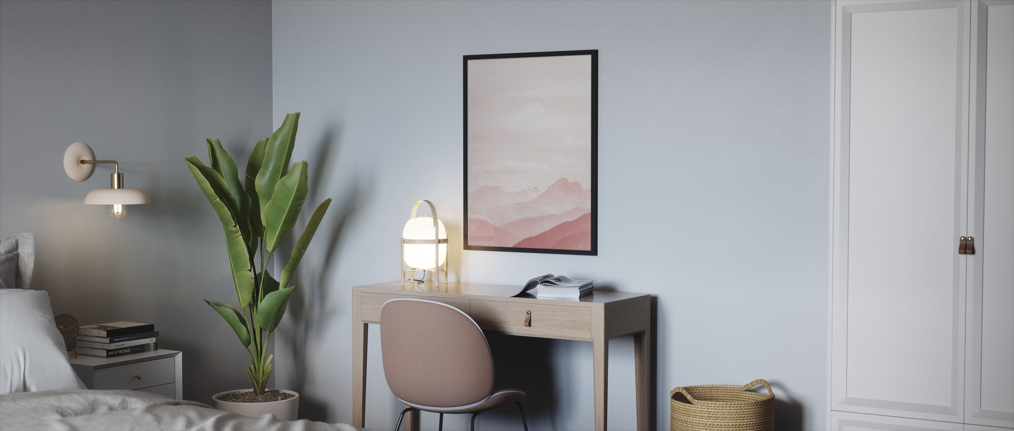 Fuzzy Mountains - Framed print - Bedroom