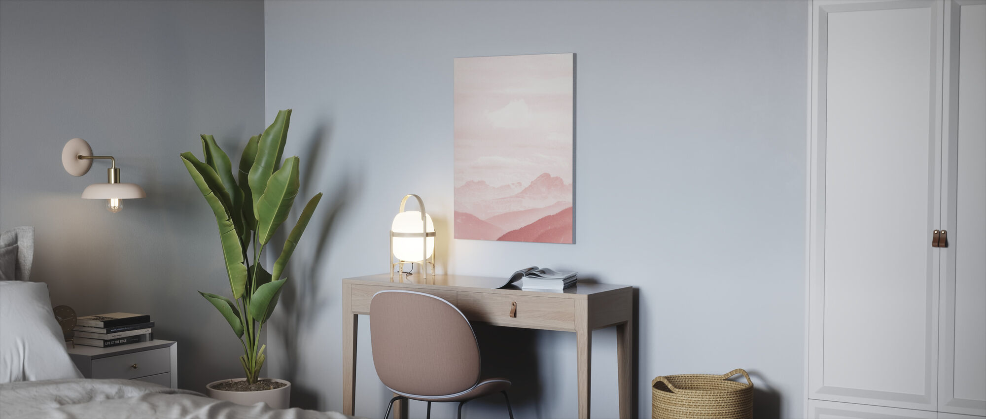 Fuzzy Mountains - Canvas print - Office