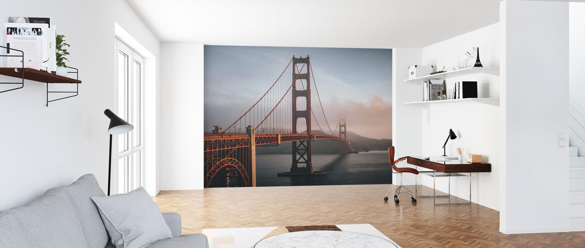 Golden Gate in Fog - Wallpaper - Office