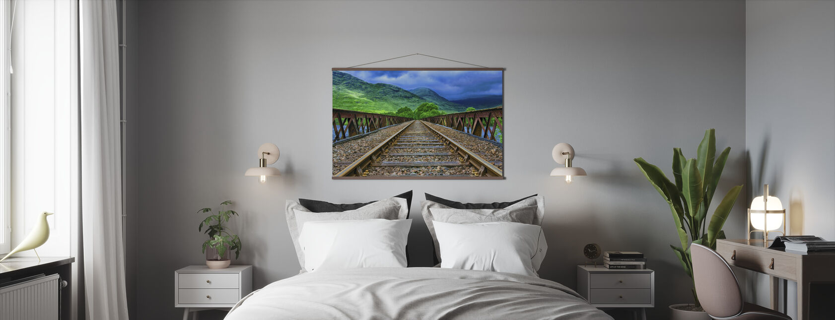 Pennsylvania Railroad Bridge - Poster - Slaapkamer