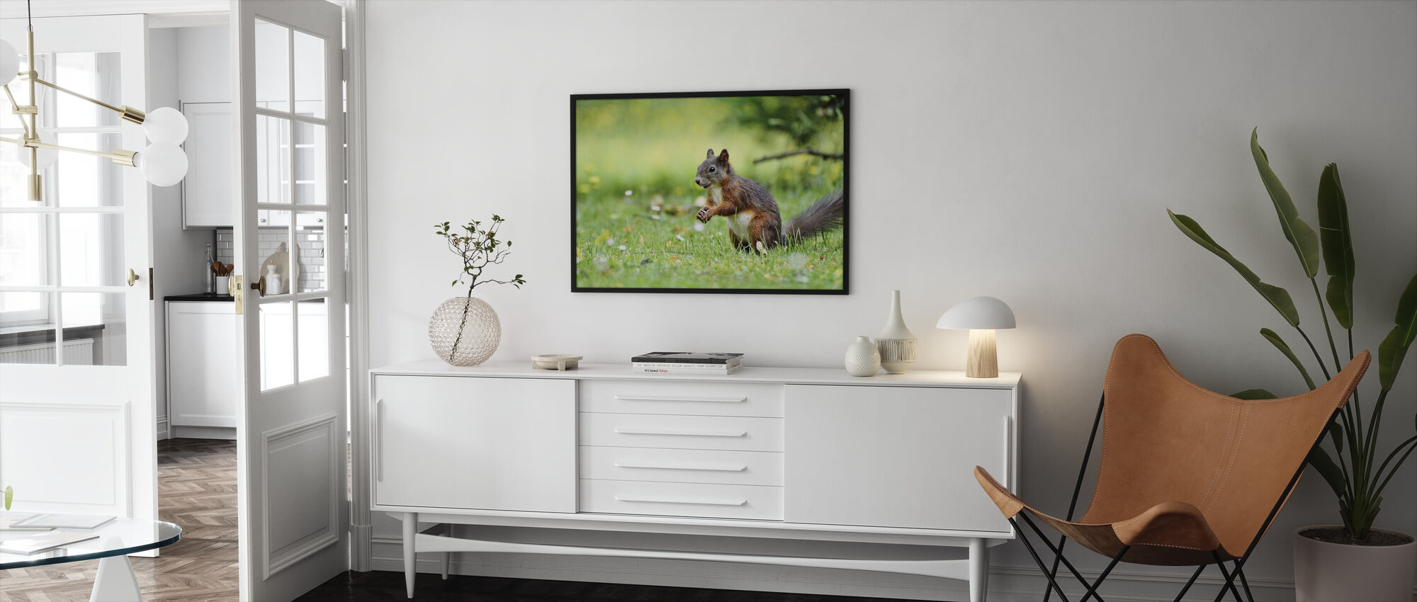 Squirrel Census - Framed print - Living Room