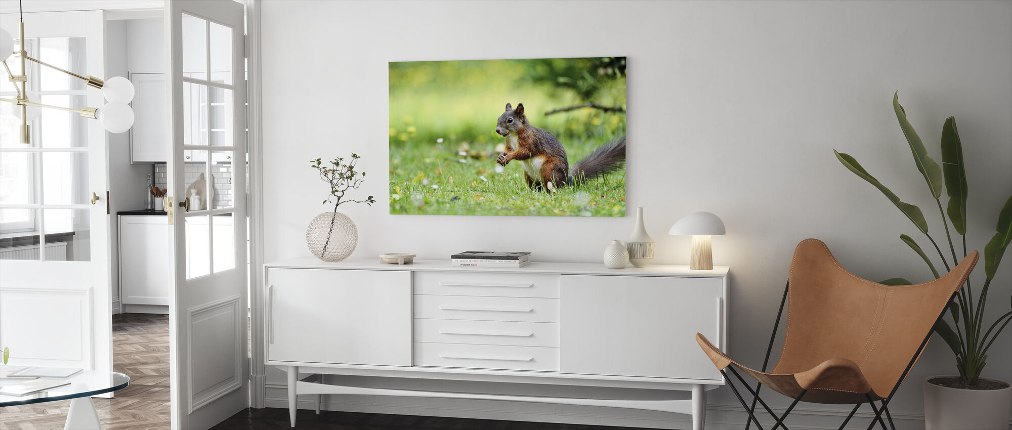 Squirrel Census - Canvas print - Living Room